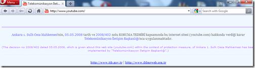 youtube.com văzut din Turcia